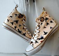 sneakers with bird print
