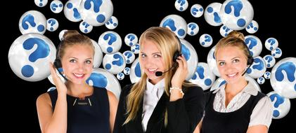 Call Center girls and Question Mark