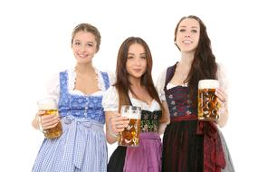 girls with beer mugs in Bavaria