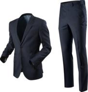 photo of a jacket and men's trousers