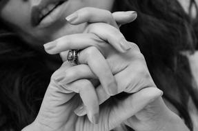 hands of sensual Adult Woman close up