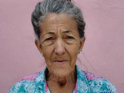 photo of an old woman in Cuba