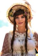 photo of a girl in a traditional Bavarian costume