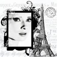 audrey hepburn actress banner drawing