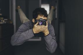 Man with Photo Camera
