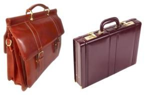 two luxury Leather Briefcases