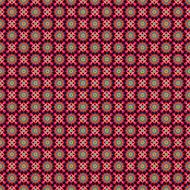 kaleidoscope seamless pattern red