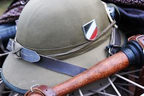 vintage leather army helmet