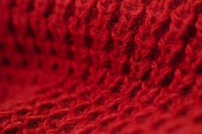red knit fabric