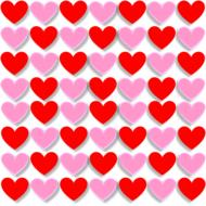 3d pink and red hearts