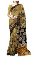 brown and black Saree, Indian Ethnic clothing