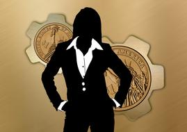 businesswoman inspiration drawing