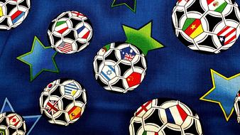colorfulTextile pattern, Soccer