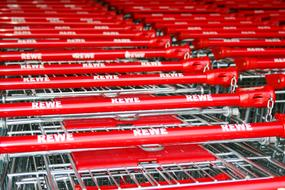 Shopping Cart Supermarket Red