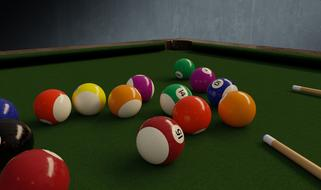 Playing the billiard