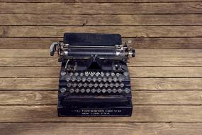 Vintage Typewriter black