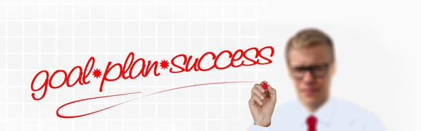 Goal and plan for success clipart