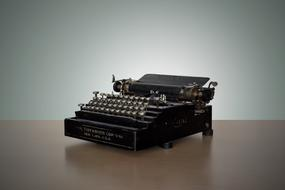 Vintage old Typewriter Write