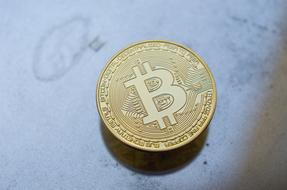 Bitcoin Cryptocurrency gold coins