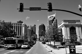 Nashville Tennessee City black and white