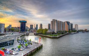Rotterdam Netherlands City and river