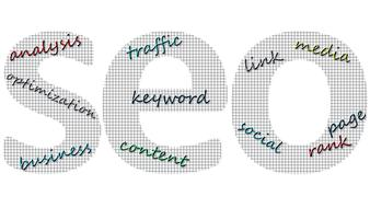 seo search engine text drawing