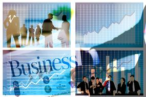 chart business curve collage