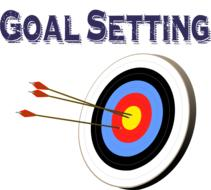 goal setting arrows and target