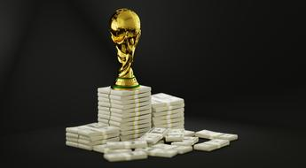 gold Trophy Soccer and dollars