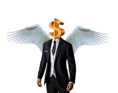 Business Angel Dollar drawing