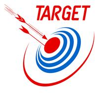 target goal business icon drawing