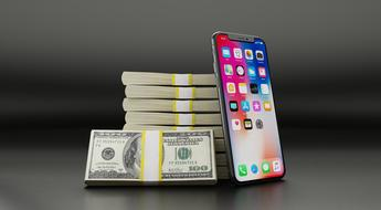 Iphone X and dollars