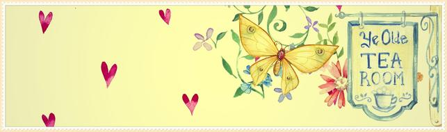 flower butterfly banner drawing
