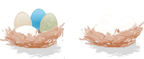 eggs nest drawing
