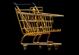 gold decoration Shopping Cart
