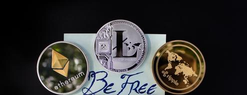 be free, writing beneath Cryptocurrency