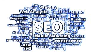 search engine optimization seo banner drawing