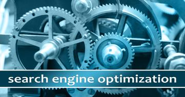 search engine optimization, banner with gears