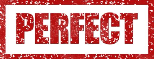 perfect stamp banner red