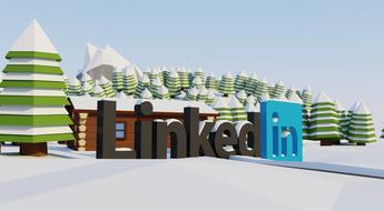 linkedin social logo drawing