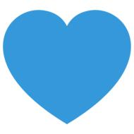 symbol design blue heart