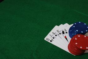 Poker Game Cards and casino chips