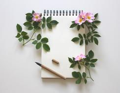 Notebook Write and flowers