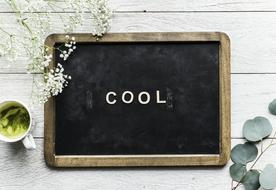 cool word on black board