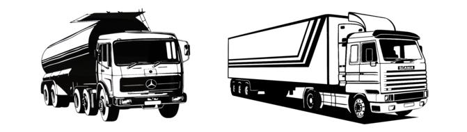 illustration of mercedes benz trucks