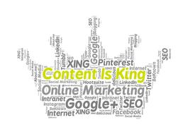 content is king, online marketing, word cloud