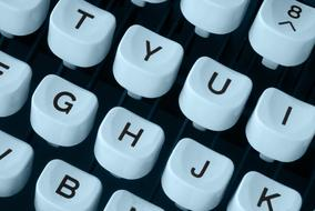 Typewriter Keyboard white