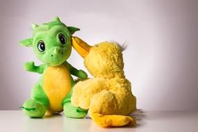 Communication, two soft toys together
