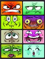 emotion smiley icons cartoon