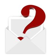envelope question mark red